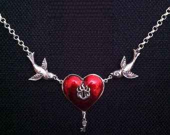 Lockheart and Key Necklace