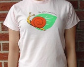 """Organic cotton T-shirts for girls, """"Snail"""", Limited edition"""