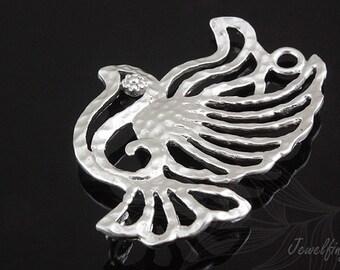 E631-20pcs-Matt Rhodium plated-bird