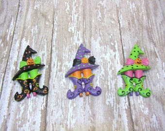 Witch Halloween Pin, Witch Pin, Halloween Jewelry, Halloween Pin, Witch Hat Pin, Witch Boot Pin, Witch Jewelry, Halloween Witch, Coupon