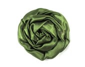 "Sage Green - Set of 3 Large 3"" Rolled Satin Flowers - RSF-008"