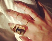 4 24k Gold Plated Stacking Rings
