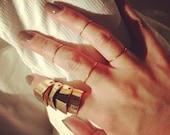4 24 k or plaqué anneaux à empiler