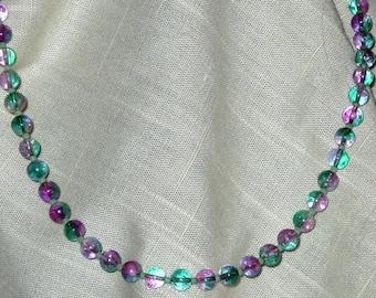Purple and Teal Springtime Necklace