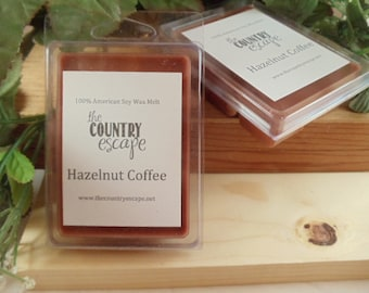 Hazelnut Coffee Scented 100% Soy Wax Melt - Maximum Scented