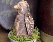 Chicken Doll, Primitive Chicken Doll, Primitive Chicken, Ball Jar, Zinc Ball Jar Lid, Primitive Rabbit, Spring Gift, OFG, HAFAIR