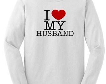 I Love My Husband Long Sleeve T-Shirt 2400-HS-219