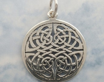 Celtic Ox Pendant Sterling Silver 30mm