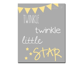Twinkle Twinkle Little Star Printable - Instant Download