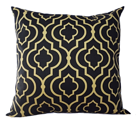 Throw Pillows Us : Two Decorative Pillow Covers Navy and Gold Throw Pillow
