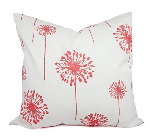 Coral Sofa Pillow: Coral Throw Pillows Coral Dandelion Decorative Throw Pillows