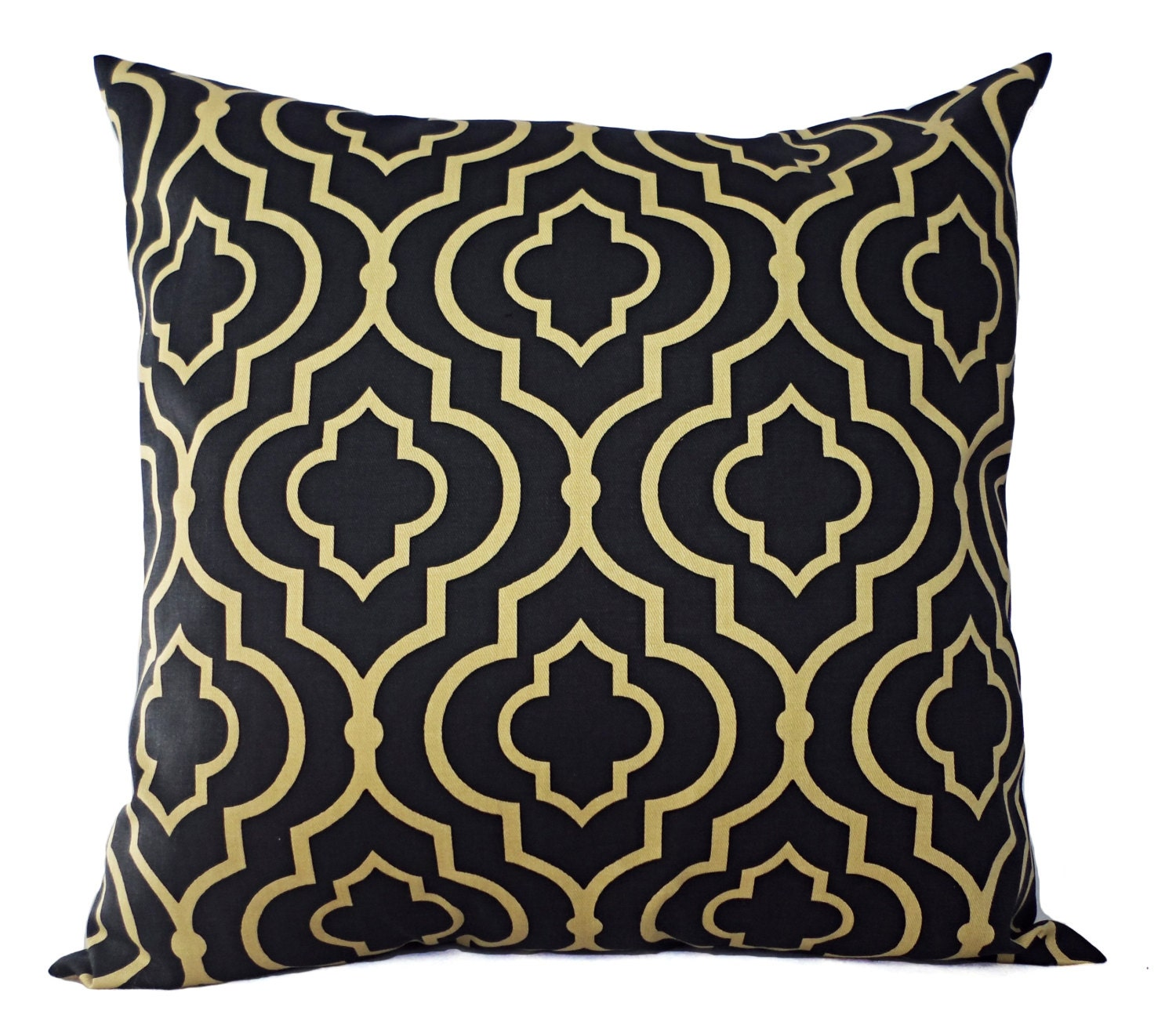 Two Decorative Pillow Covers Navy and Gold by CastawayCoveDecor