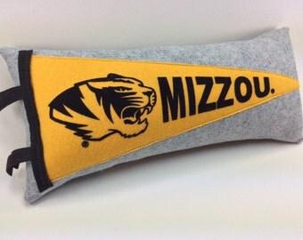 Mizzou Pennant Pillow University of Missouri Tigers