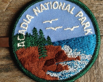 Acadia National Park Maine Vintage Travel Patch