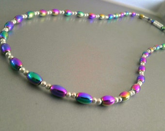Colorful Rainbow Magnetic Necklace, Bracelet or Anklet ! ~