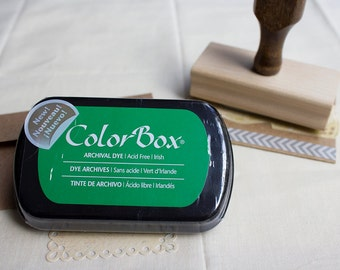 Green Archival Dye Ink Pad, Green Ink Pad, ColorBox Irish Green Stamp Pad