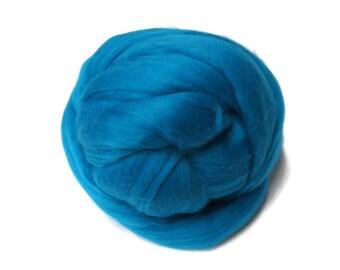Superfine merino wool roving  , Color: Cobalt