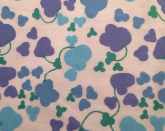 60s vintage mod retro fabric. Scandinavian design. Made in Sweden. Unused condition.