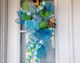 Popular items for its a boy door on etsy for Baby boy door decoration