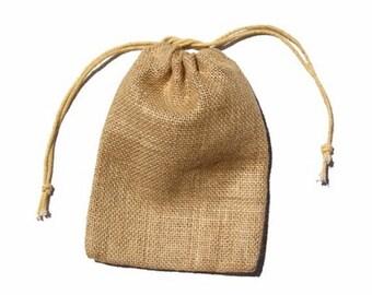 """24 Burlap Bags Small 3"""" x 5"""""""
