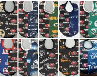 Handmade House Divided Baby Bibs - made with licensed NFL fabric