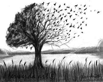 Pencil Drawing Print - Set Free - Day 232