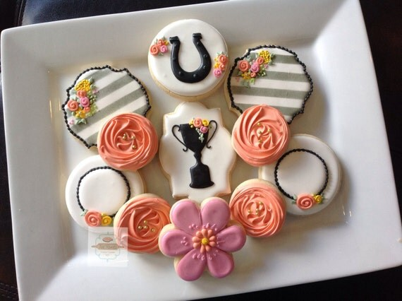 2 dozen Derby themed cookies