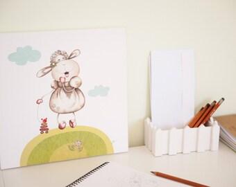Baby canvas art, Nursery wall art, Sheep, Baby room decor, Canvas nursery art, Lamb nursery