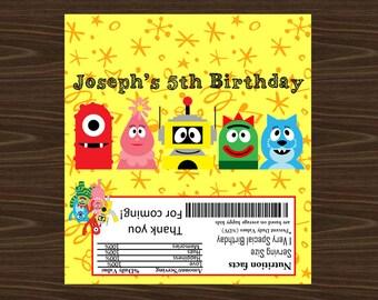 Personalized Yo Gabba Gabba Hershey's Wrapper Printable Party FAVORS/1.55oz Hershey's Label