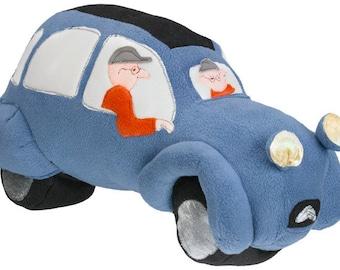 custom toy - citroen car, classic car, french car, soft toy car 2cv deux chevaux