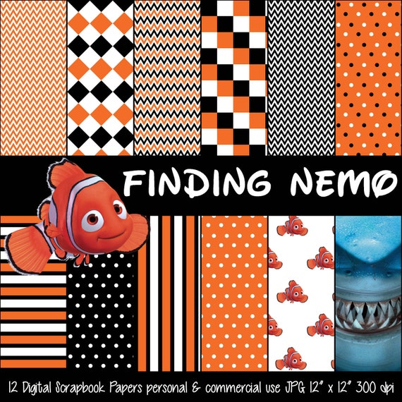 Basket Weaving Supplies Richmond Va : Finding nemo inspired orange black polka dot digital paper