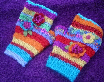 Handmade fingerless gloves, gloves, wool gloves crochet