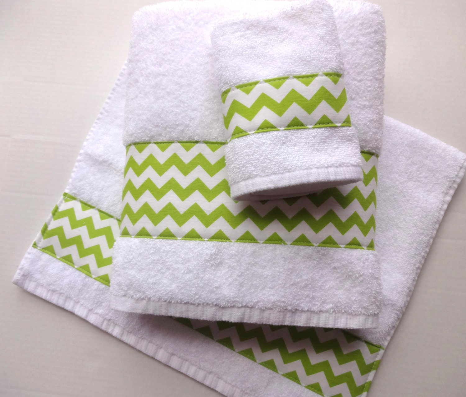 Hand Towels Bathroom: Lime Green Chevron Towels Hand Towels Chevron Lime Green