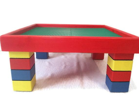 items similar to kids activity table lego furniture building block table kids playroom. Black Bedroom Furniture Sets. Home Design Ideas