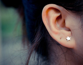 Star Sterling Silver Earring Studs
