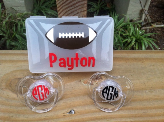 Personalized Pacifier Case & 2 Pacifiers