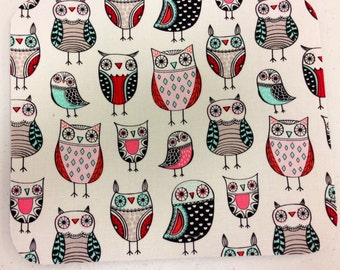 Linear owls mouse pad