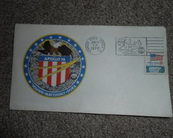 apollo 16 first day cover letter