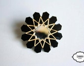 Reserved Listing for Amy: Black Moroccan Star Zellije Pendant Necklace
