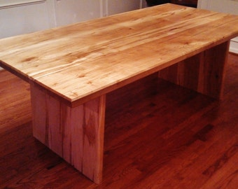 Horizon Series Dining Table Hand Crafted Solid Wood Modern Minimalist