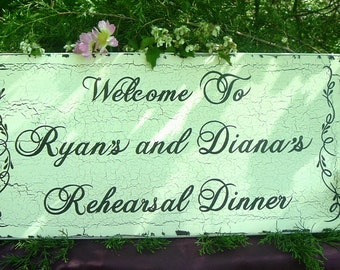 Rehearsal Dinner Wedding Sign Ceremony Wedding Sign  Custom Sign Name/Date Sign