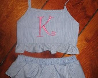 Little Girl Bathingsuit/Monogram Swimsuit/Girl Bathingsuit