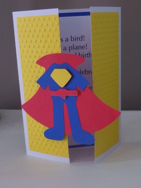 Cumpleaños, babyshower, invitación fiesta de superhéroes, superman