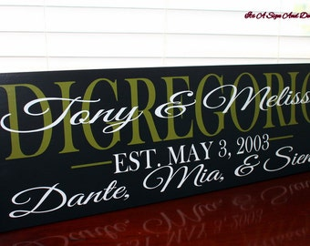 Personalized Family name Custom Wooden Sign Last name signs Family Name Signs Bridal shower decor Wedding Gift best friend christmas gift