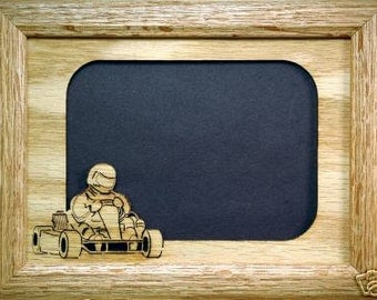 Go Kart Picture Frame and Mat 5x7