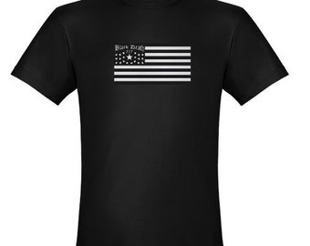 Black Death 777 - Flag BLACK Only S-5XL America USA Moonshine stars stripes patriot alcohol distillery brewery cool t shirt