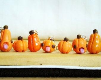 Pumpkin patch earrings.