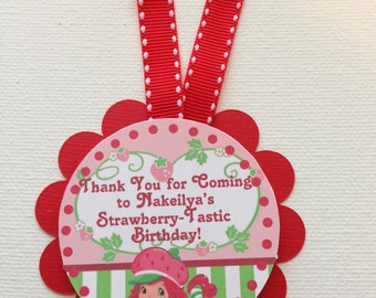 Strawberry Shortcake Party Favor Tags//12 Favor Tags