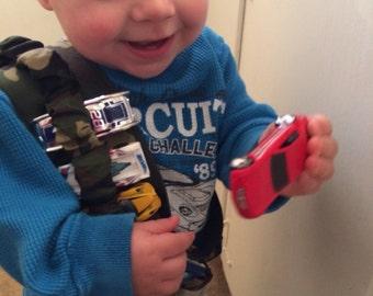 Toy car bandolier- camo print