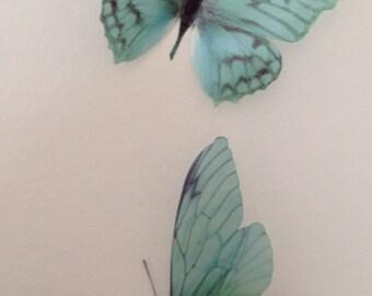 4 Luxury Amazing Teal Blue  Butterflies 3D  Butterfly Wall Art